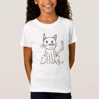 Gemaltes Kitty-Mädchen-Baby - Puppe T - Shirt