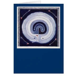 Gemaltes Labyrinth Grußkarte
