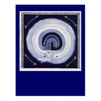 Gemaltes Labyrinth Postkarte