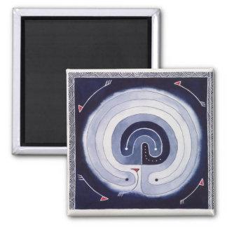 Gemaltes Labyrinth Quadratischer Magnet