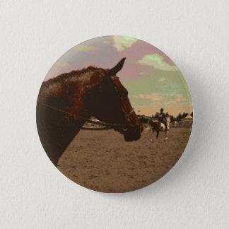 Gemaltes Pferd Runder Button 5,7 Cm