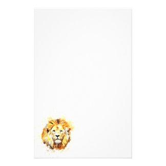 Gemaltes Porträt des Löwes Briefpapier