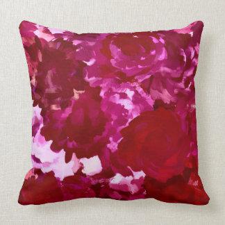 Gemaltes rotes Blumen-Kissen Kissen
