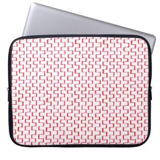Gemaltes rotes geometrisches Muster Laptopschutzhülle