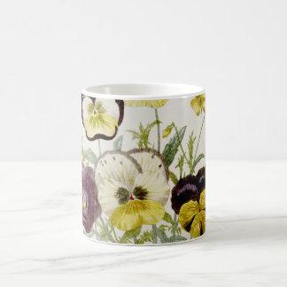Gemaltes Vintages Blumen-Blumenstrauß-Skript 2 Tasse