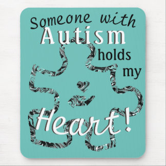 Gemarmortes Autismus-Puzzlespiel-Stück mit Text Mousepad