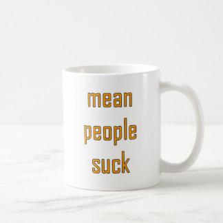 Gemeine Leute sind zum Kotzen Kaffeetasse