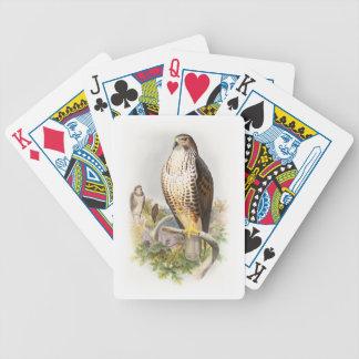 Gemeine Vögel Bussard-Johns Gould von Bicycle Spielkarten