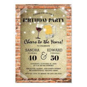 Einladung geburtstag doppelfeier