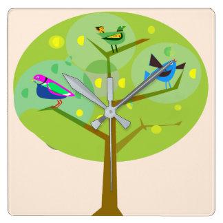 Gemeinschaftsbaum-Uhr Quadratische Wanduhr