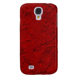 Gemeißelte Petunien, Kasten Rot-Samsung Galaxie-s4 Galaxy S4 Hülle