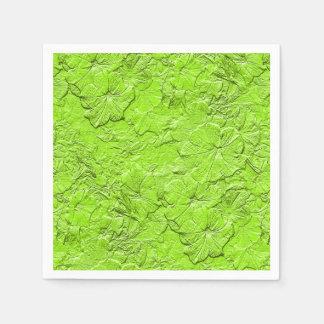 Gemeißelte Petunien SPG Grün-Papier Serviette