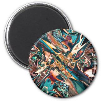 Gemischte abstrakte Formen Runder Magnet 5,7 Cm