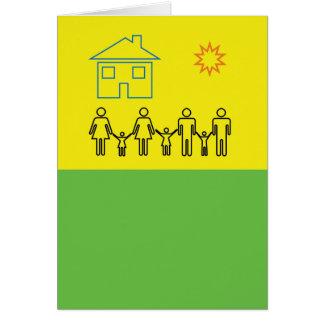 Gemischte Familien-Feier-Karte Grußkarte