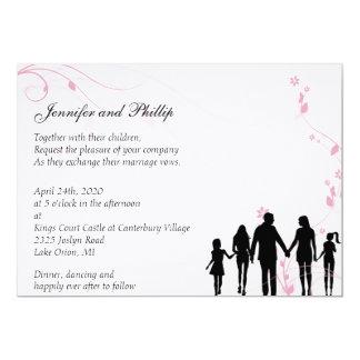Gemischte Familien-Hochzeits-Einladung 12,7 X 17,8 Cm Einladungskarte