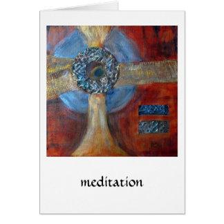 Gemischte Medien der Meditation #1 Grußkarte