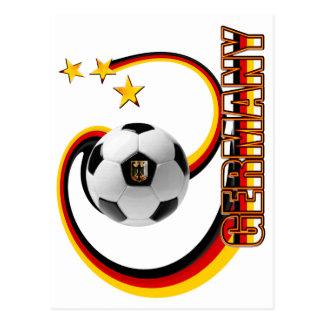 Gemischtes Fußballlogo Deutschlands Alternative Postkarte