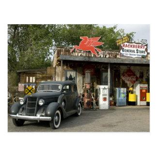 Gemischtwarenladen des Weg-66 u. Tankstelle Postkarte