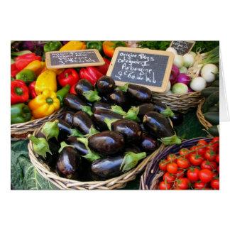 Gemüse am Nizza Obstmarkt, Frankreich Karte