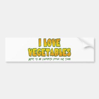 Gemüse der Liebe I Autoaufkleber