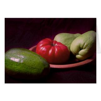 Gemüse der Tropen Karte