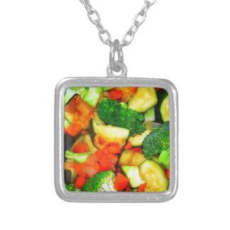 Gemüse - Gemüsestir-Fischrogen Versilberte Kette