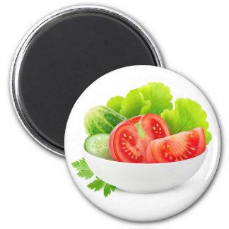 Gemüse in einer Schüssel Runder Magnet 5,1 Cm