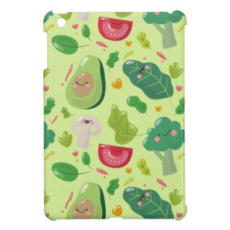 Gemüsecharaktermuster des veganen niedlichen iPad mini hülle