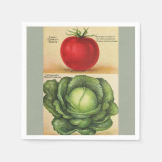 Gemüsekunst des Vintagen Gartens, 1913 Serviette