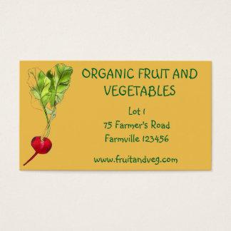 Gemüselandwirtschaft des Marktes des Bauern Bio Visitenkarte