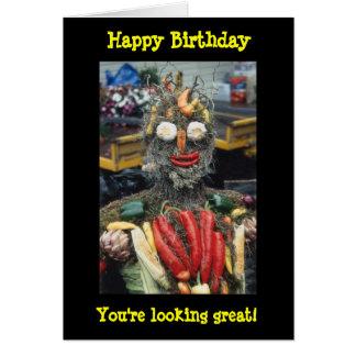 Gemüsemann-Geburtstags-Karte Grußkarte