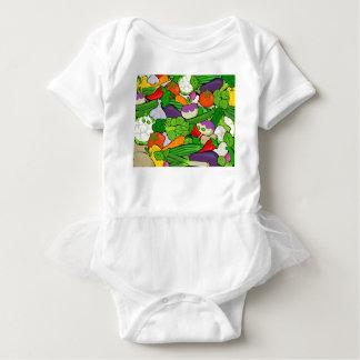 Gemüsemuster Baby Strampler