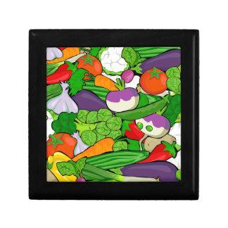 Gemüsemuster Erinnerungskiste