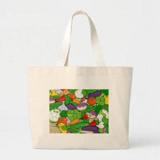 Gemüsemuster Jumbo Stoffbeutel