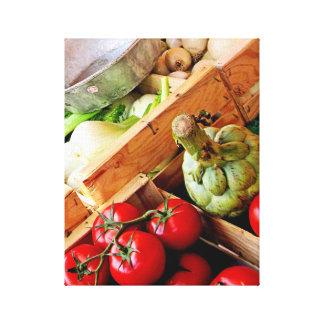 Gemüsetomate-französische Leinwanddruck