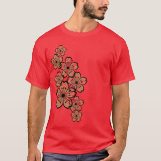 Gemusterte Blumen (dunkel) T-Shirt