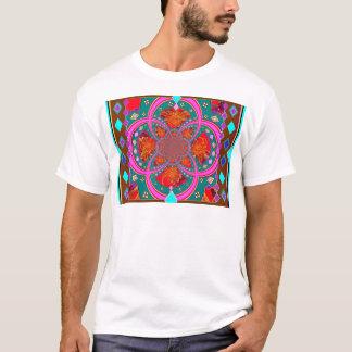 Gemusterte Geschenke des lila moderne KUNST-DEKOS T-Shirt