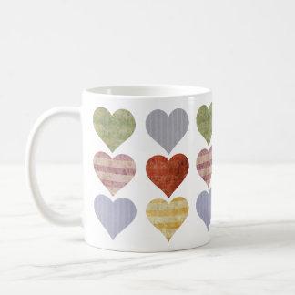 Gemusterte Herz-Tasse Kaffeetasse