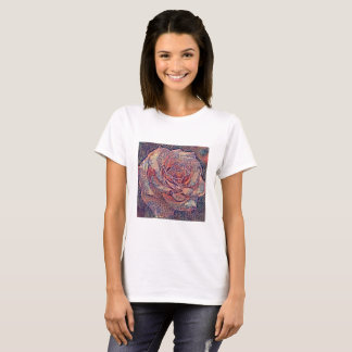 Gemusterte Rose T-Shirt