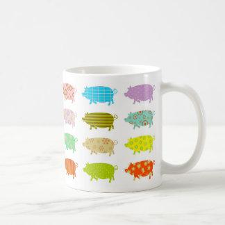 Gemusterte Schweine Kaffeetasse