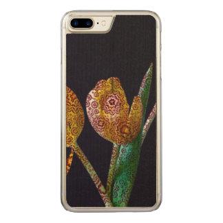 Gemusterte Tulpen Carved iPhone 8 Plus/7 Plus Hülle
