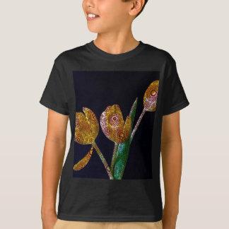 Gemusterte Tulpen T-Shirt