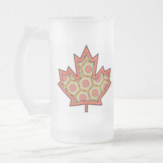 Gemusterter Applique genähtes kanadisches Mattglas Bierglas