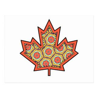 Gemusterter Applique genähtes kanadisches Postkarte