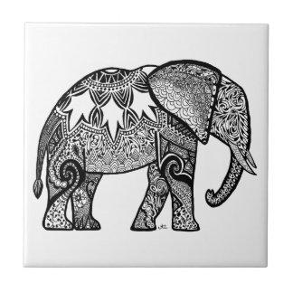 Gemusterter Elefant Fliese