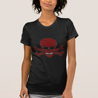 Gemusterter Schädel und gekreuzte Knochen T-Shirt