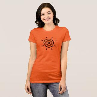 Gemustertes Blumen T-Shirt