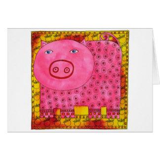 Gemustertes Schwein Karte