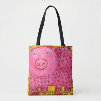 Gemustertes Schwein Tasche