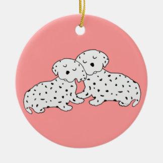 Gemütlich dalmatinische Träume Rundes Keramik Ornament